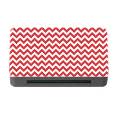 Poppy Red & White Zigzag Pattern Memory Card Reader With Cf