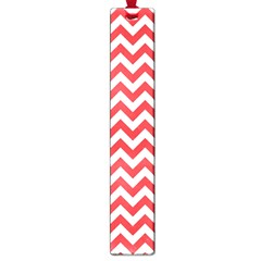 Poppy Red & White Zigzag Pattern Large Book Mark