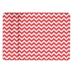 Poppy Red & White Zigzag Pattern Samsung Galaxy Tab 10 1  P7500 Flip Case