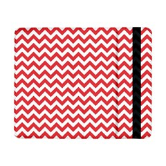 Poppy Red & White Zigzag Pattern Samsung Galaxy Tab Pro 8 4  Flip Case