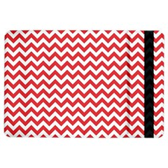 Poppy Red & White Zigzag Pattern Apple Ipad Air 2 Flip Case by Zandiepants