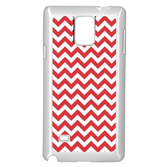 Poppy Red & White Zigzag Pattern Samsung Galaxy Note 4 Case (white)