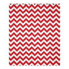 Poppy Red & White Zigzag Pattern Shower Curtain 60  X 72  (medium)
