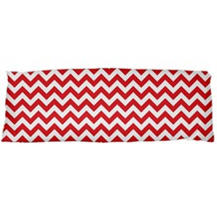 Poppy Red & White Zigzag Pattern Body Pillow Case (dakimakura)
