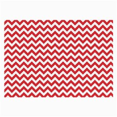 Poppy Red & White Zigzag Pattern Large Glasses Cloth (2 Sides)