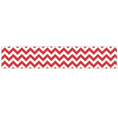 Poppy Red & White Zigzag Pattern Flano Scarf (large)