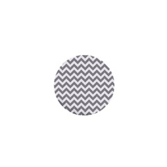 Medium Grey & White Zigzag Pattern 1  Mini Button by Zandiepants