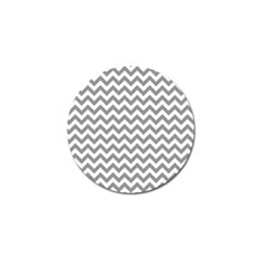 Medium Grey & White Zigzag Pattern Golf Ball Marker (10 Pack) by Zandiepants