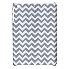 Medium Grey & White Zigzag Pattern Apple Ipad Mini Hardshell Case by Zandiepants