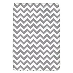 Medium Grey & White Zigzag Pattern Removable Flap Cover (l) by Zandiepants
