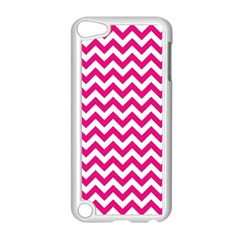 Hot Pink & White Zigzag Pattern Apple Ipod Touch 5 Case (white)