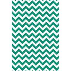 Emerald Green & White Zigzag Pattern 5 5  X 8 5  Notebook by Zandiepants