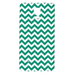 Emerald Green & White Zigzag Pattern Samsung Note 4 Hardshell Back Case