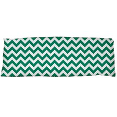 Emerald Green & White Zigzag Pattern Body Pillow Case Dakimakura (two Sides) by Zandiepants