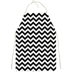 Black & White Zigzag Pattern Full Print Apron by Zandiepants
