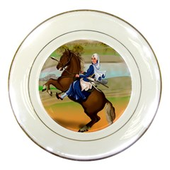 Warrior Princess Mata Bhaag Kaur Porcelain Display Plate by harjasnoorcreations