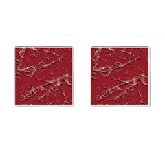 Thorny Abstract,red Cufflinks (square) by MoreColorsinLife