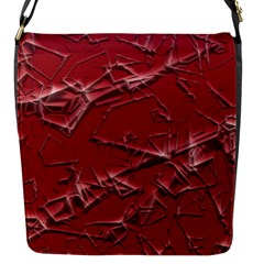 Thorny Abstract,red Flap Messenger Bag (s) by MoreColorsinLife