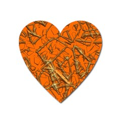 Thorny Abstract, Orange Heart Magnet by MoreColorsinLife