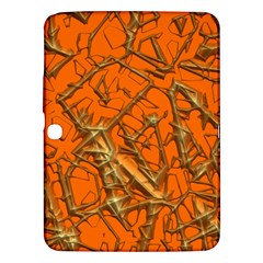 Thorny Abstract, Orange Samsung Galaxy Tab 3 (10 1 ) P5200 Hardshell Case  by MoreColorsinLife