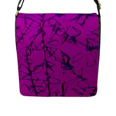 Thorny Abstract,hot Pink Flap Messenger Bag (l)  by MoreColorsinLife
