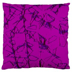Thorny Abstract,hot Pink Large Flano Cushion Case (one Side) by MoreColorsinLife