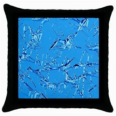 Thorny Abstract,ice Blue Throw Pillow Case (black) by MoreColorsinLife