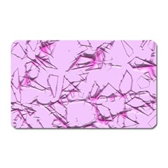 Thorny Abstract,soft Pink Magnet (rectangular) by MoreColorsinLife