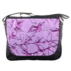 Thorny Abstract,soft Pink Messenger Bags by MoreColorsinLife