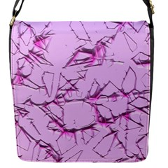 Thorny Abstract,soft Pink Flap Messenger Bag (s) by MoreColorsinLife