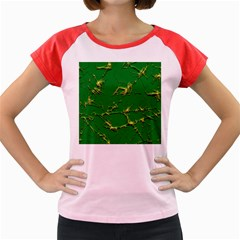 Thorny Abstract,green Women s Cap Sleeve T Shirt by MoreColorsinLife