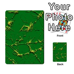 Thorny Abstract,green Multi Purpose Cards (rectangle)