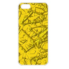 Thorny Abstract,golden Apple Iphone 5 Seamless Case (white) by MoreColorsinLife