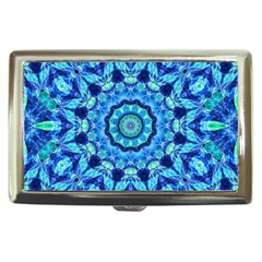 Blue Sea Jewel Mandala Cigarette Money Case by Zandiepants