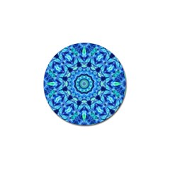 Blue Sea Jewel Mandala Golf Ball Marker (4 Pack) by Zandiepants
