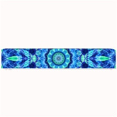 Blue Sea Jewel Mandala Small Bar Mat by Zandiepants