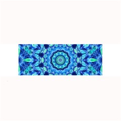 Blue Sea Jewel Mandala Large Bar Mat by Zandiepants
