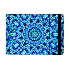 Blue Sea Jewel Mandala Apple Ipad Mini Flip Case by Zandiepants