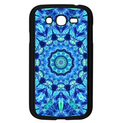 Blue Sea Jewel Mandala Samsung Galaxy Grand Duos I9082 Case (black) by Zandiepants