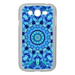 Blue Sea Jewel Mandala Samsung Galaxy Grand Duos I9082 Case (white) by Zandiepants