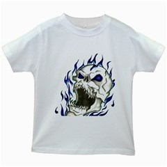 Ptdc0007 Kids White T Shirts by Limitless