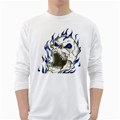 Ptdc0007 White Long Sleeve T Shirts by Limitless