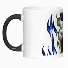 Blue Flame Skull Morph Mugs by Limitless