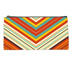 Bent Stripes                                    	pencil Case by LalyLauraFLM