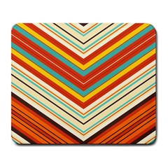 Bent Stripes                                    			large Mousepad by LalyLauraFLM