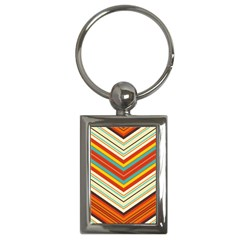 Bent Stripes                                    			key Chain (rectangle) by LalyLauraFLM