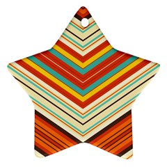 Bent Stripes                                    			ornament (star) by LalyLauraFLM