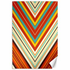 Bent Stripes                                    			canvas 24  X 36