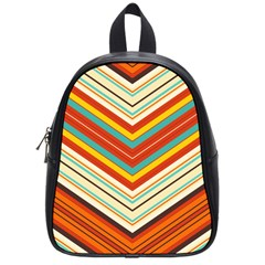 Bent Stripes                                    			school Bag (small) by LalyLauraFLM