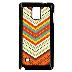 Bent Stripes                                    			samsung Galaxy Note 4 Case (black) by LalyLauraFLM